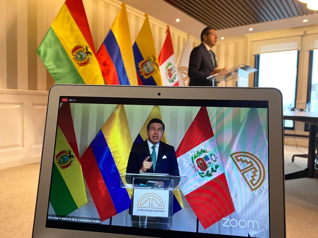 Secretario General de la CAN, Jorge Hernando Pedraza. Foto: CAN.