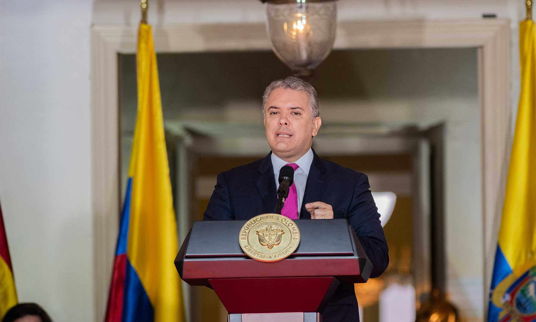 Presidente de Colombia, Iván Duque. Foto: CAN.